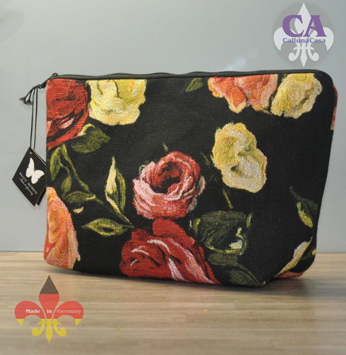 Kosmetiktasche Blumen Gobelin Made in Germany