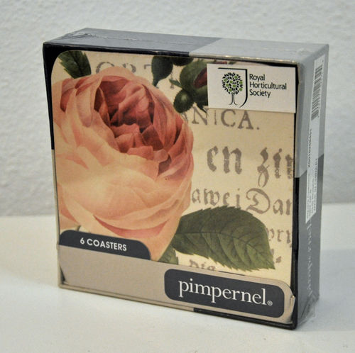 Rose Butterfly 6er Set Untersetzer Pimpernel