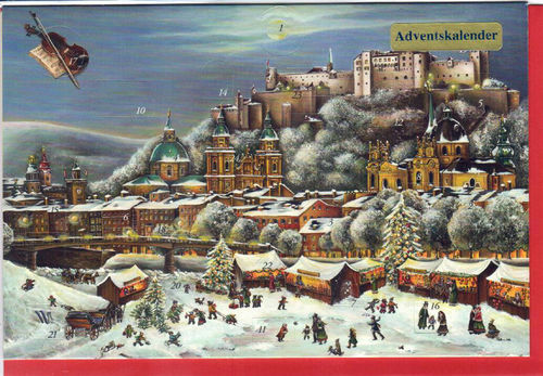 Mini Adventskalender Salzburg 2er Set Klappkarte