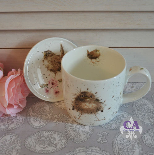 Vogel Set Untersetzer Kaffeebecher Royal Worcester Wrendale