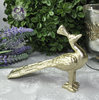 Deko Pfau Vogel Design Figur Gold Bloomingville Metall